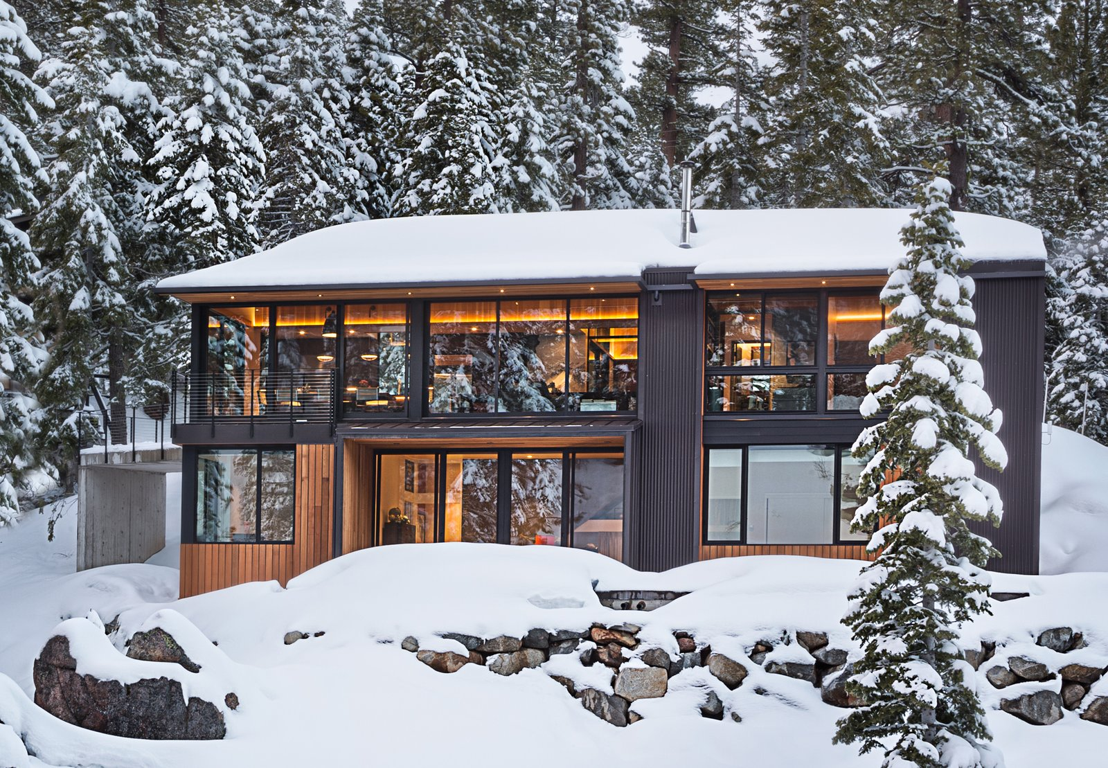 Exterior View Tagged: Exterior, House, Cabin Building Type, Gable RoofLine, and Wood Siding Material.  New Tahoe by Studio Bergtraun Architects