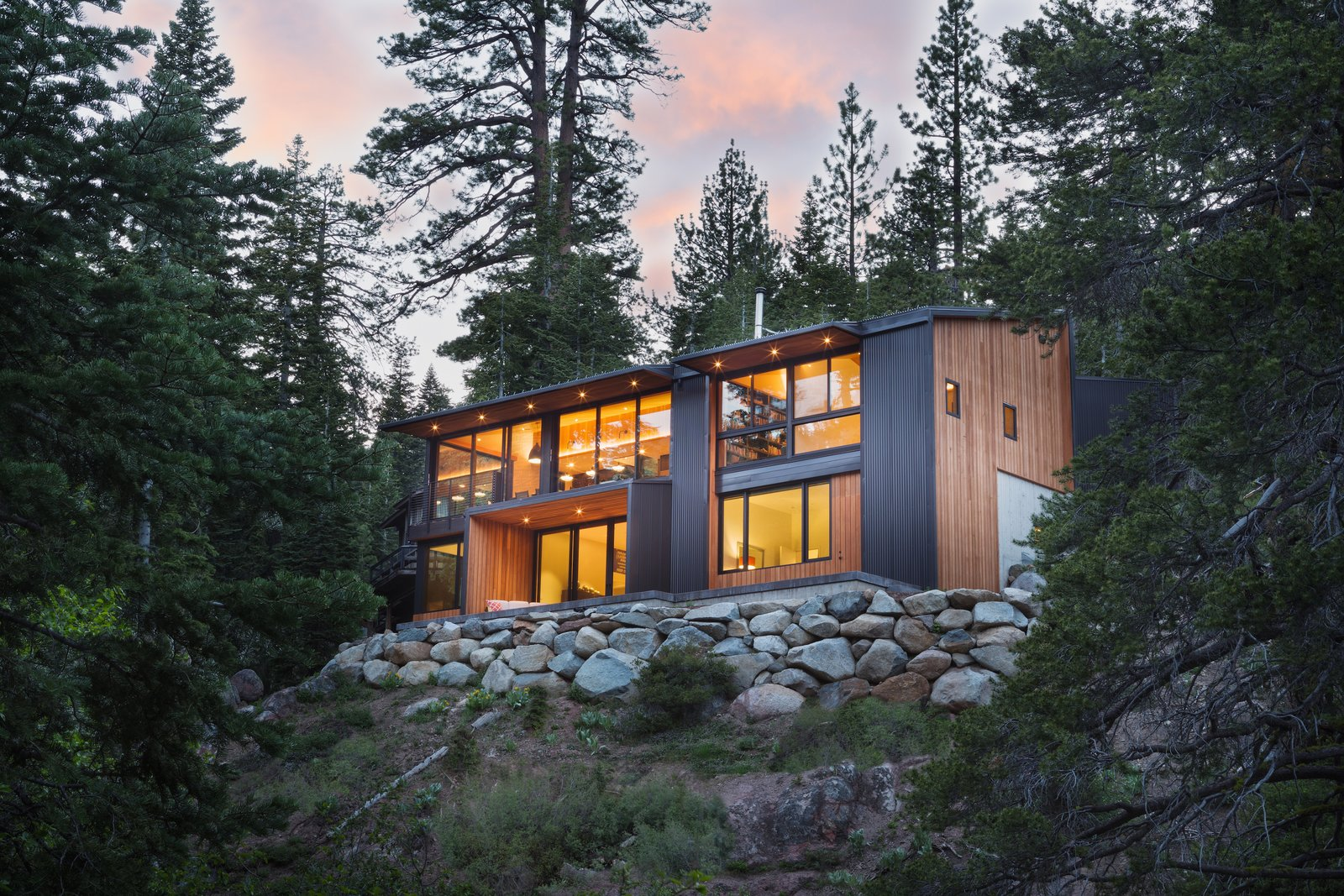 Exterior View Tagged: Outdoor, Slope, and Back Yard. New Tahoe by Studio Bergtraun Architects
