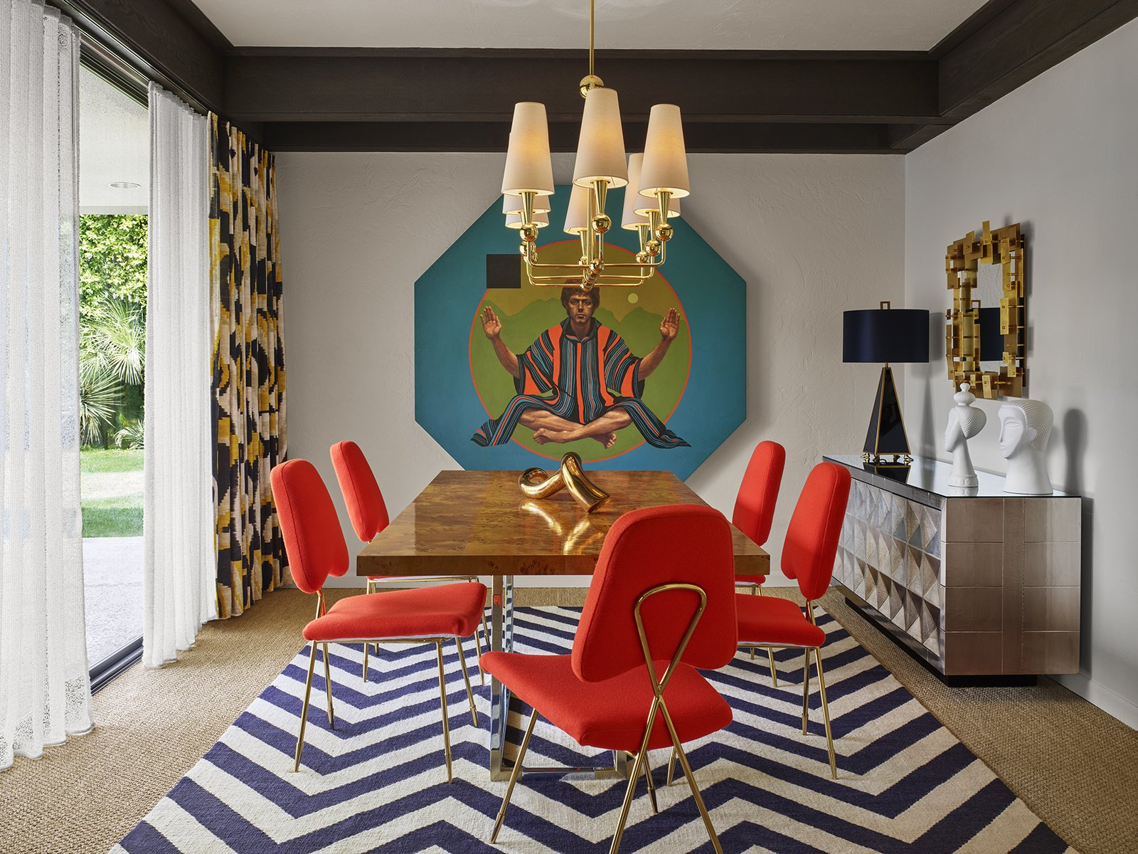 """The vibe is cheeky hedonistic luxury,"" designer Jonathan Adler said to describe the Parker Palm Springs."