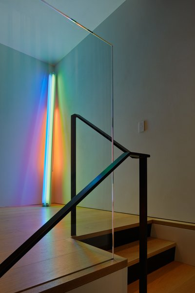 There are few walls in the home that abut, making it difficult to place this neon sculpture—untitled (to the real Dan Hill)—by Dan Flavin.