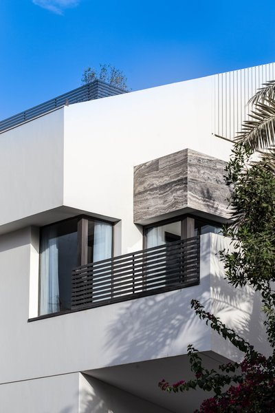 Modern home with windows, single hung window type, sliding window type, and metal. Exterior Materiality Photo 7 of A House in Yarmouk