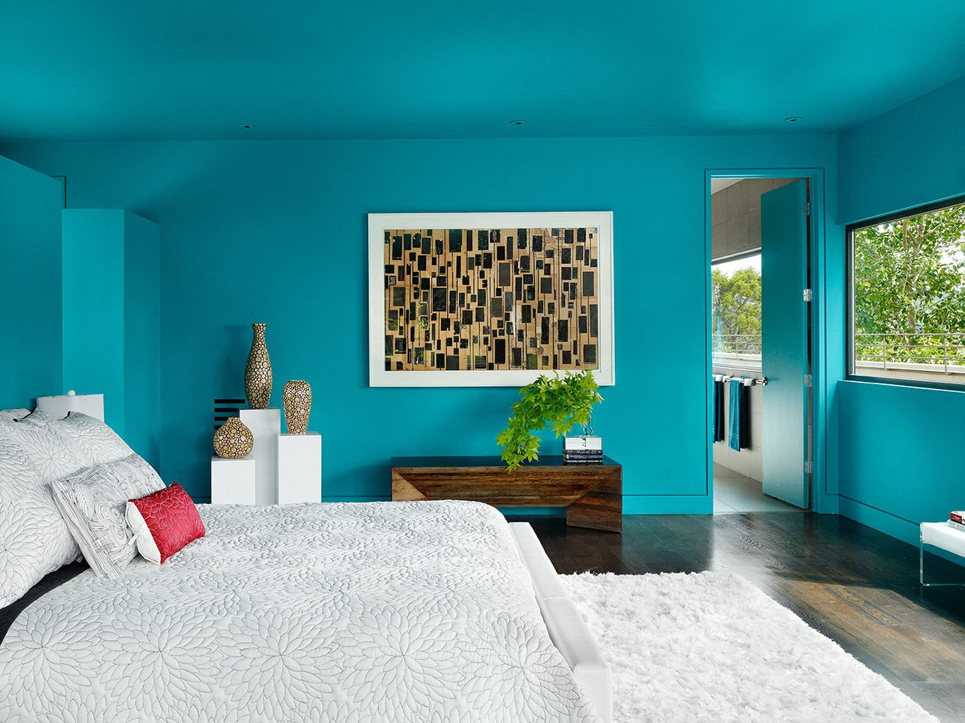 Photographer: Casey Dunn Tagged: Bedroom and Bed.  West Lake Hills Residence by Specht Architects