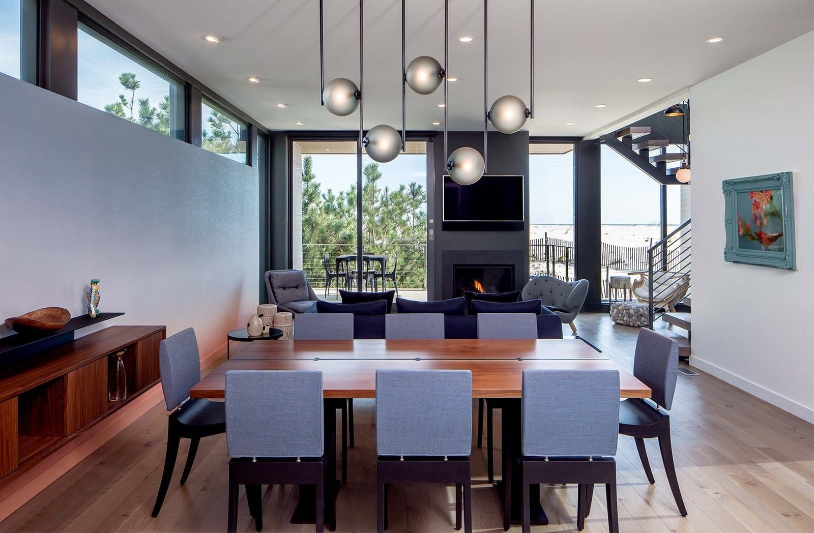 Beach Haven Residence, Dining Table and Living Room.