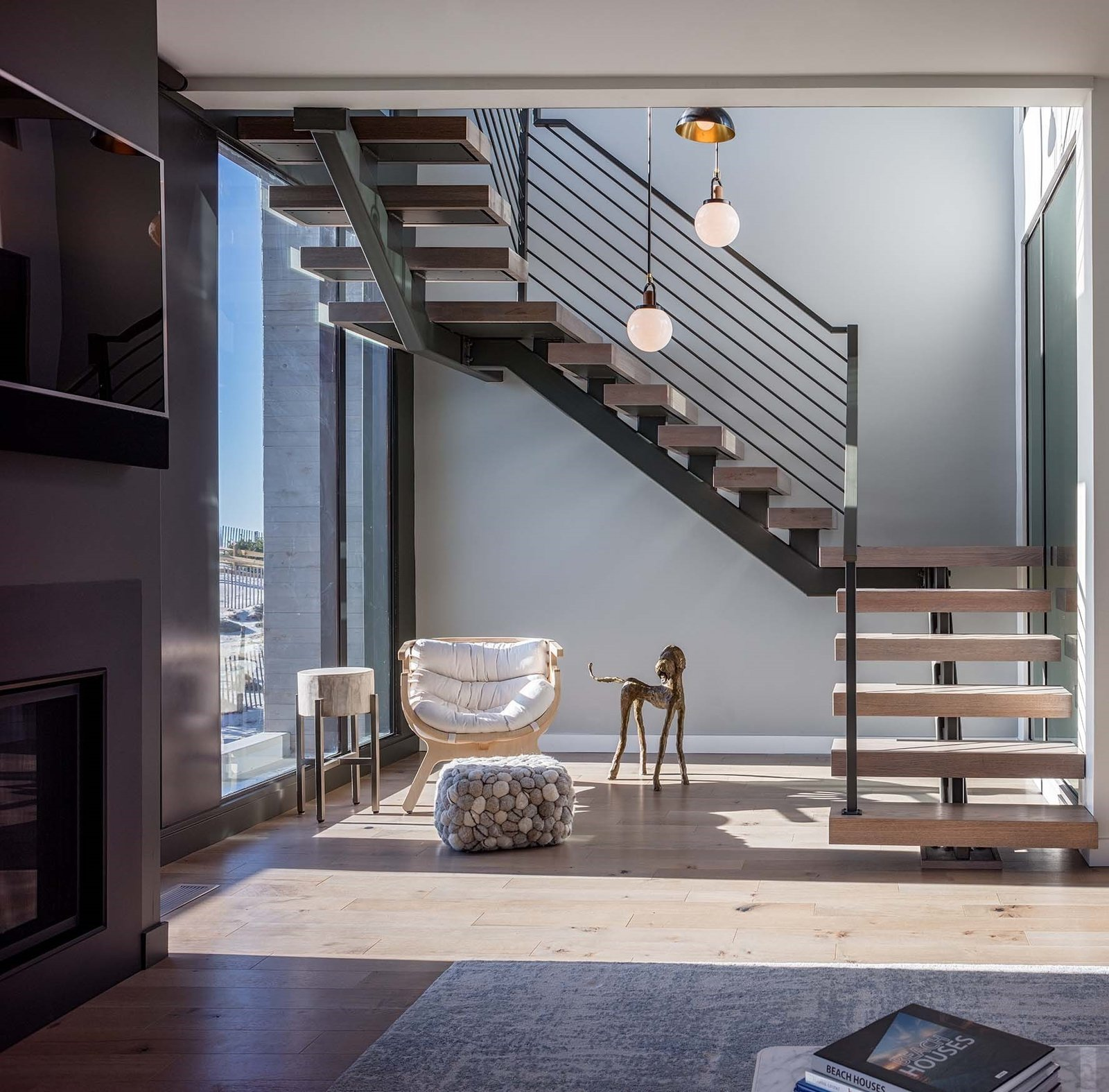 Beach Haven Residence, Staircase.   Beach Haven Residence by Specht Architects