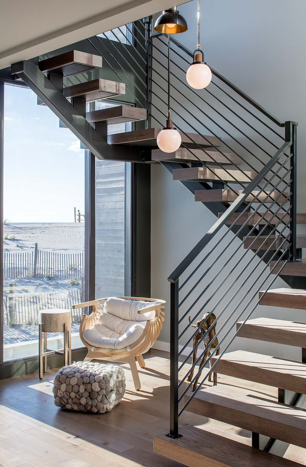 Beach Haven Residence, Staircase with a view.   Beach Haven Residence by Specht Architects