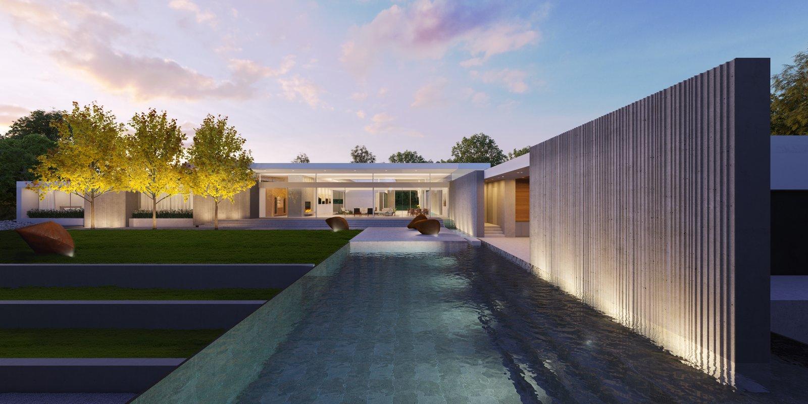 Preston Hollow, Backyard.   Preston Hollow by Specht Architects