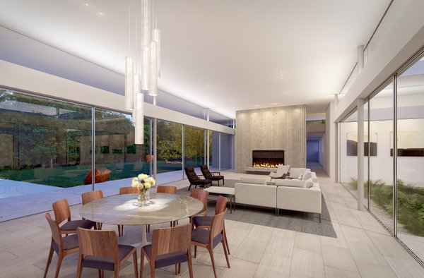 Preston Hollow, Living Area.  Photo 2 of Preston Hollow modern home