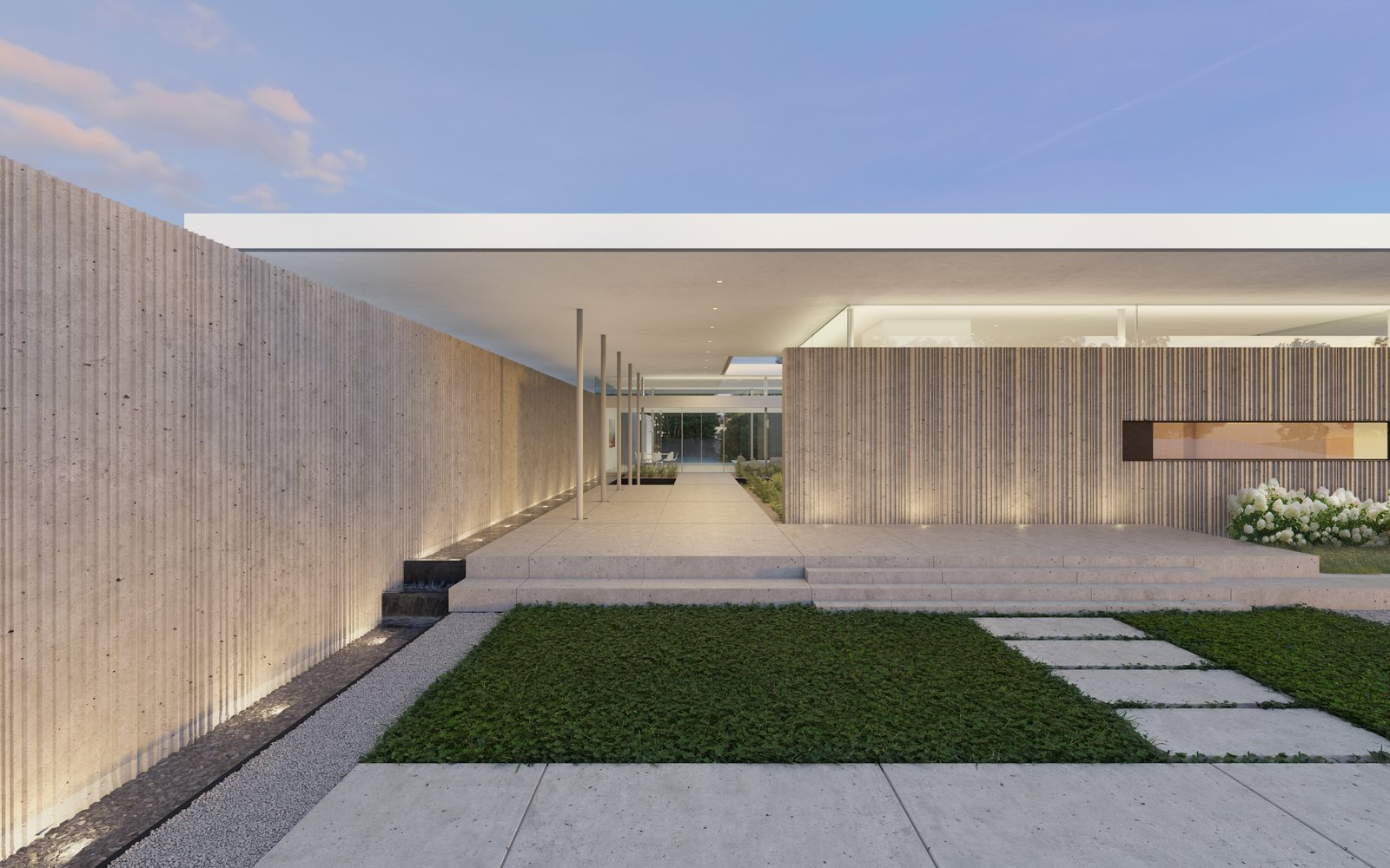 Preston Hollow, Entrance.  Preston Hollow by Specht Architects