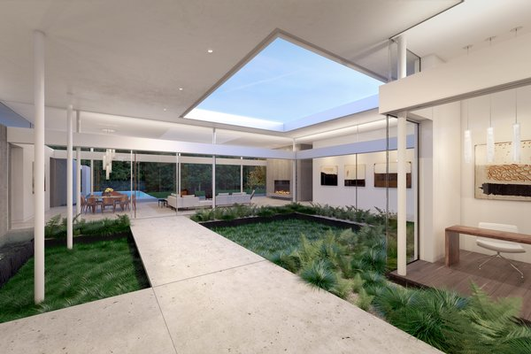 Preston Hollow, Interior Courtyard.  Photo 3 of Preston Hollow modern home