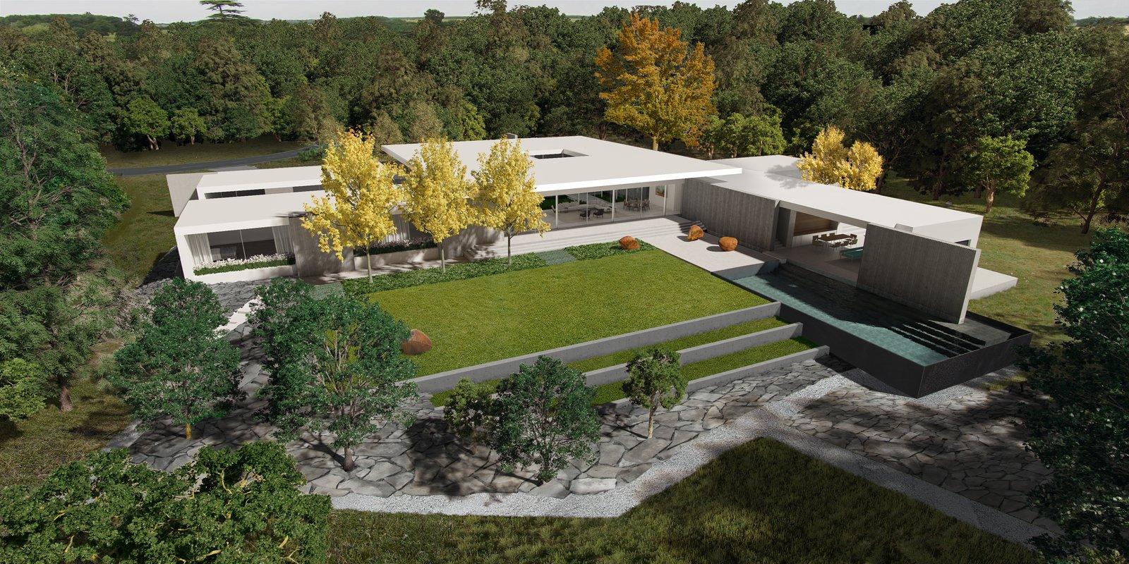 Preston Hollow, Aerial View.   Preston Hollow by Specht Architects