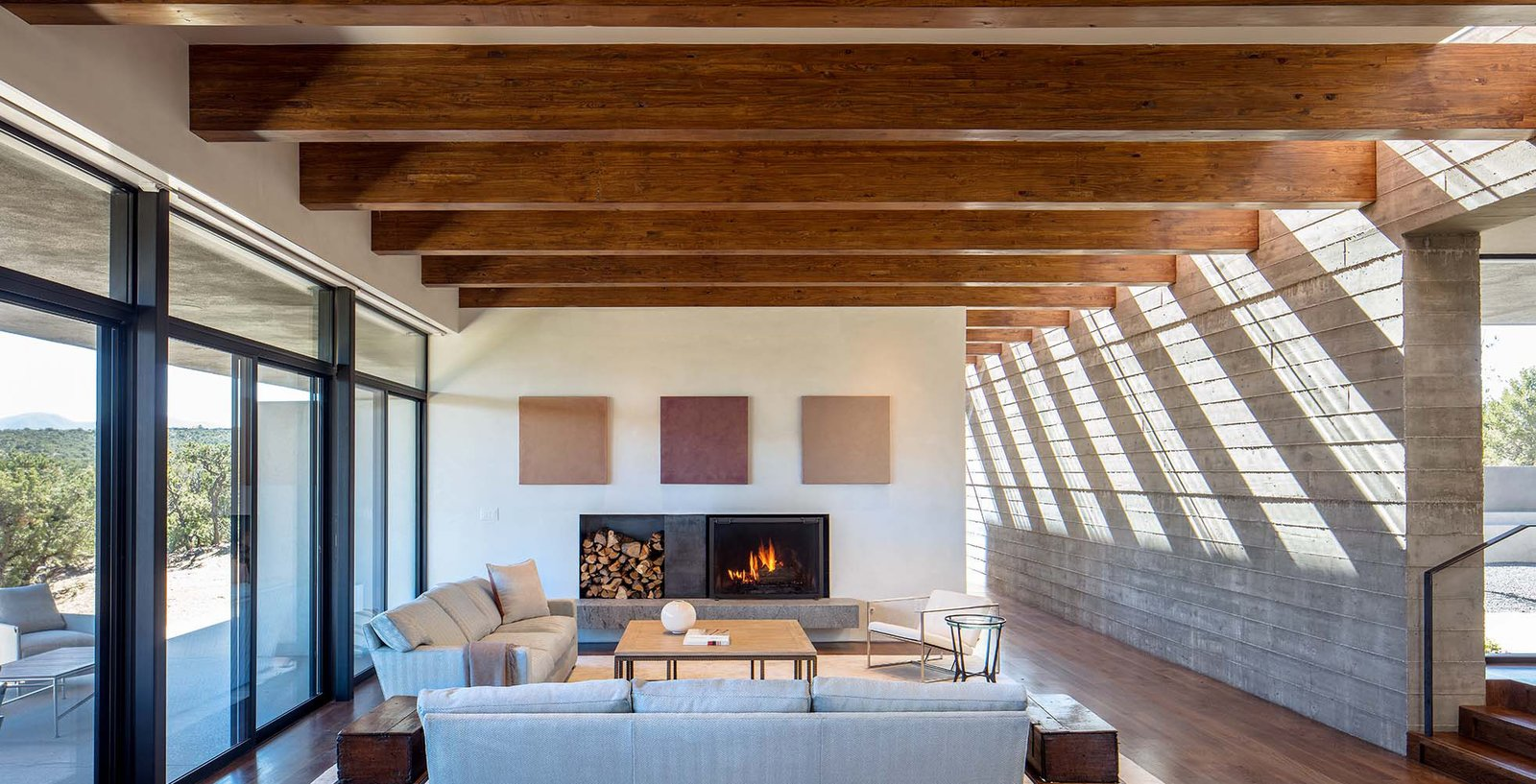 Sundial House, Living Room.   Sundial House by Specht Architects