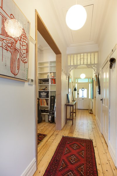 Modern home with hallway and light hardwood floor. Corridor & Entry Photo 10 of Residence AD&H