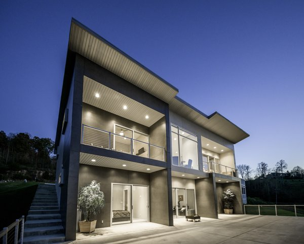 EXTERIOR DUSK Photo 2 of HANES RESIDENCE modern home