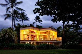 Hanalei Bay Villa – Contemporary Home on Hanalei Bay Offering Art & History - Photo 1 of 9 - Hanalei Bay Villa at twilight
