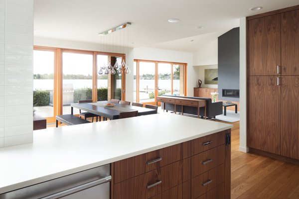 The open floor plan of this home allows for views from nearly every room.  Photo 4 of The Lakehouse modern home
