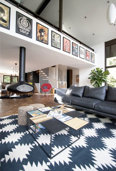 Photo  of Midcentury with a Graphic Interior modern home