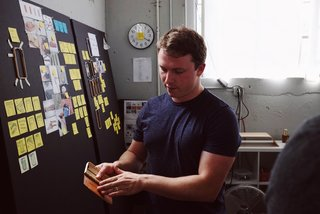 Craft & Vigor:  Inside Design at Grovemade - Photo 8 of 9 - Sean showing us some exploration around the new iPhone 7 case.