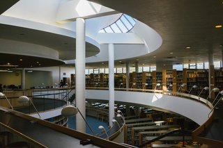 The inner cavern of the library simultaneously creates stunning views up and down.