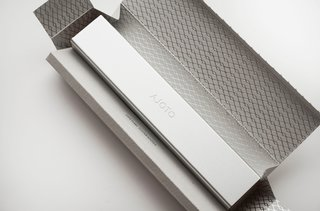 The silver foil pattern-stamped outer packaging is exquisite. A thing of beauty in itself.