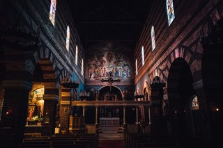 The marvelous interior of The Anglican Parish of Saint Mark in NW Portland.
