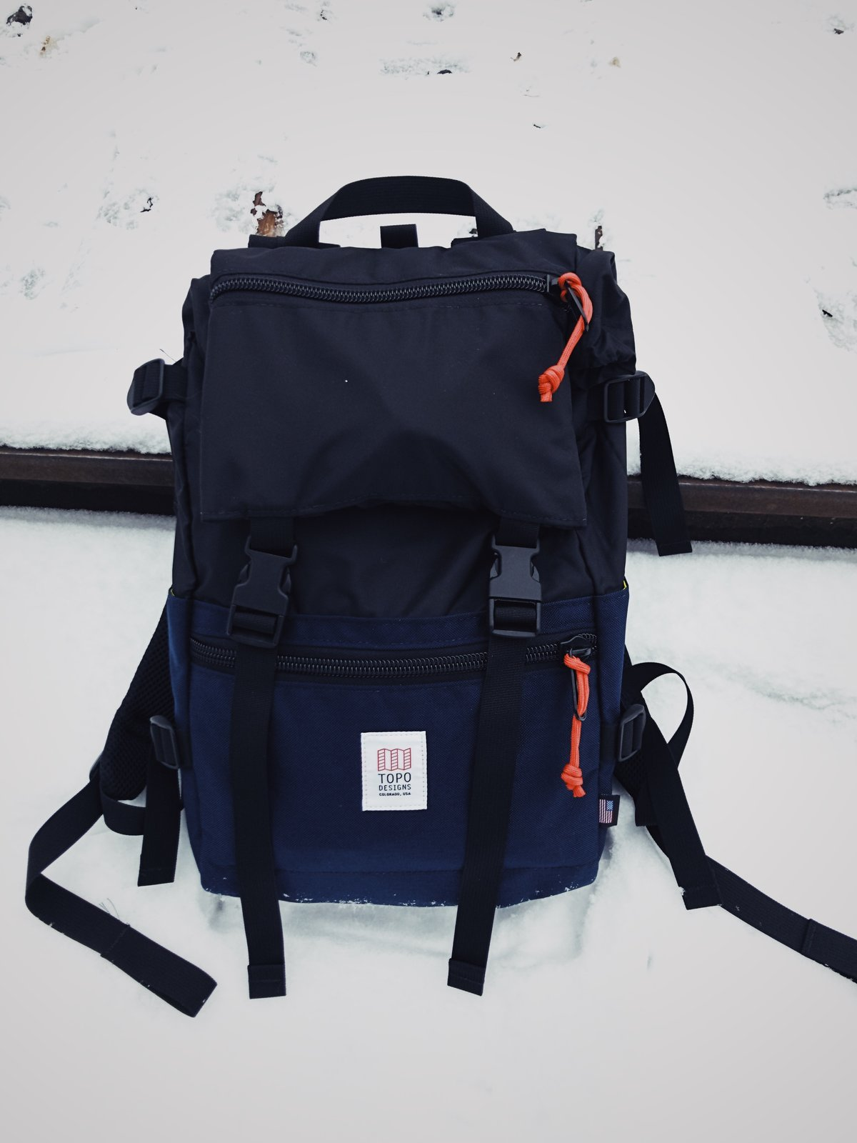 The Rover Pack was great for trips to and from the coffee shop in the snow.  Photo 4 of 10 in VSCO RAW/X and Topo Designs