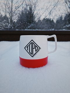 VSCO RAW/X and Topo Designs - Photo 4 of 9 - The Topo mug seemed right at home in the frosty cold surroundings.