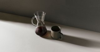 Penrose is Building a Design-Driven Coffee Brand - Photo 1 of 3 - Shadows and light mix in this Chemex brew from Penrose.