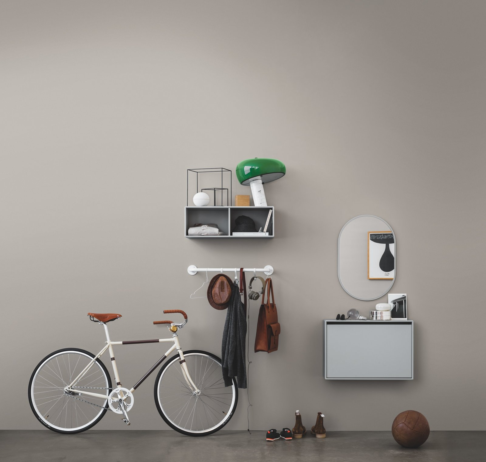 The Hall collection is a newer offering from Montana that helps tackle the tough job of organizing a frequently used but often neglected space that we use every day.  Photo 3 of 6 in Denmark's Montana Takes a Modern Approach to Household Storage