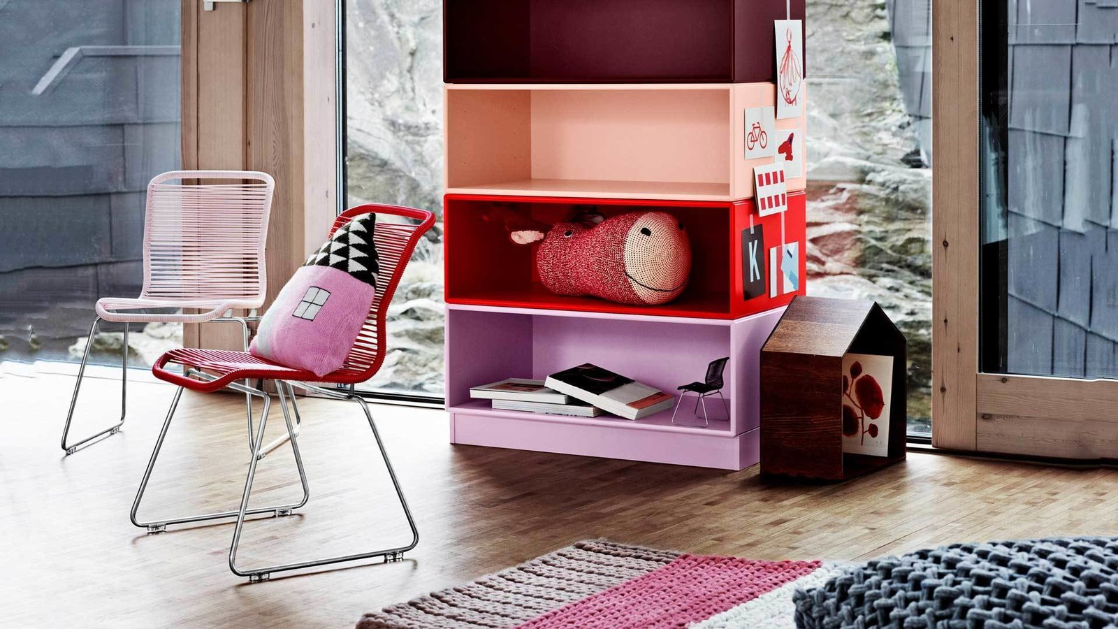 Large colorful stacking modules make a great addition to liven up a children's play room.  Photo 4 of 6 in Denmark's Montana Takes a Modern Approach to Household Storage
