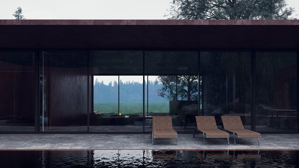 Large glass openings on virtually every side of the structure allow the structure to be engulfed by natural beauty.