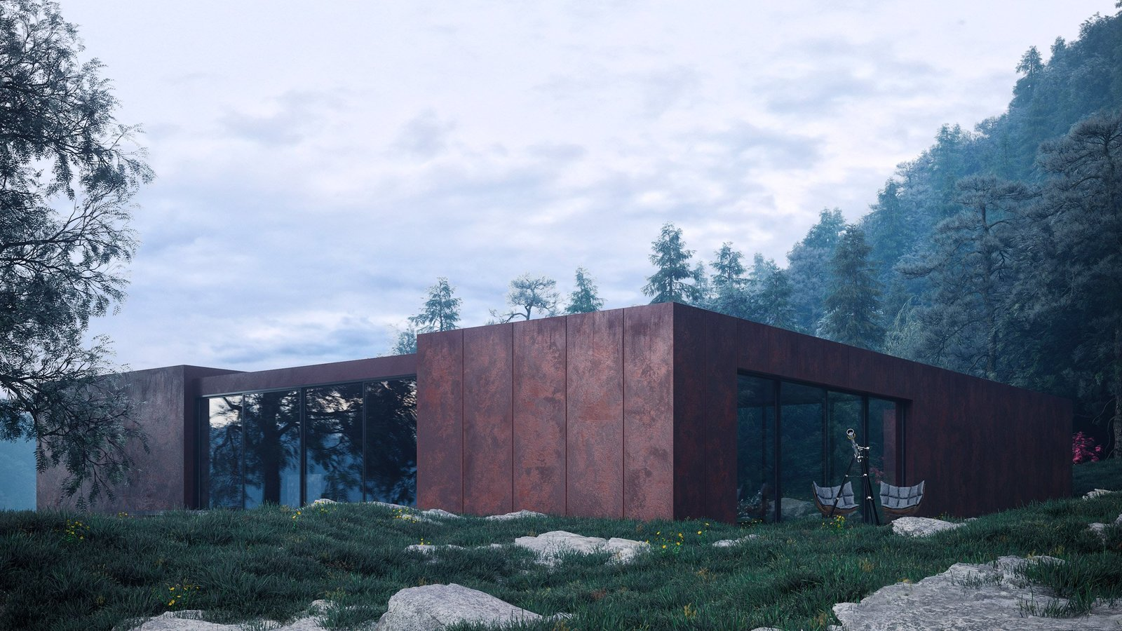 Tagged: Exterior, Metal Siding Material, and House.  Photo 6 of 6 in Rose House Blooms in Ukraine's Carpathian Mountains
