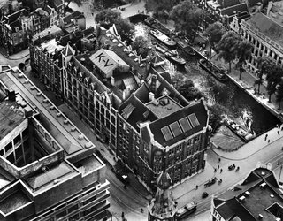 Formerly a Historic Bank, This Amsterdam Hotel Honors its Stately Roots - Photo 1 of 14 - An aerial view of the bank before an expansion in 1927.