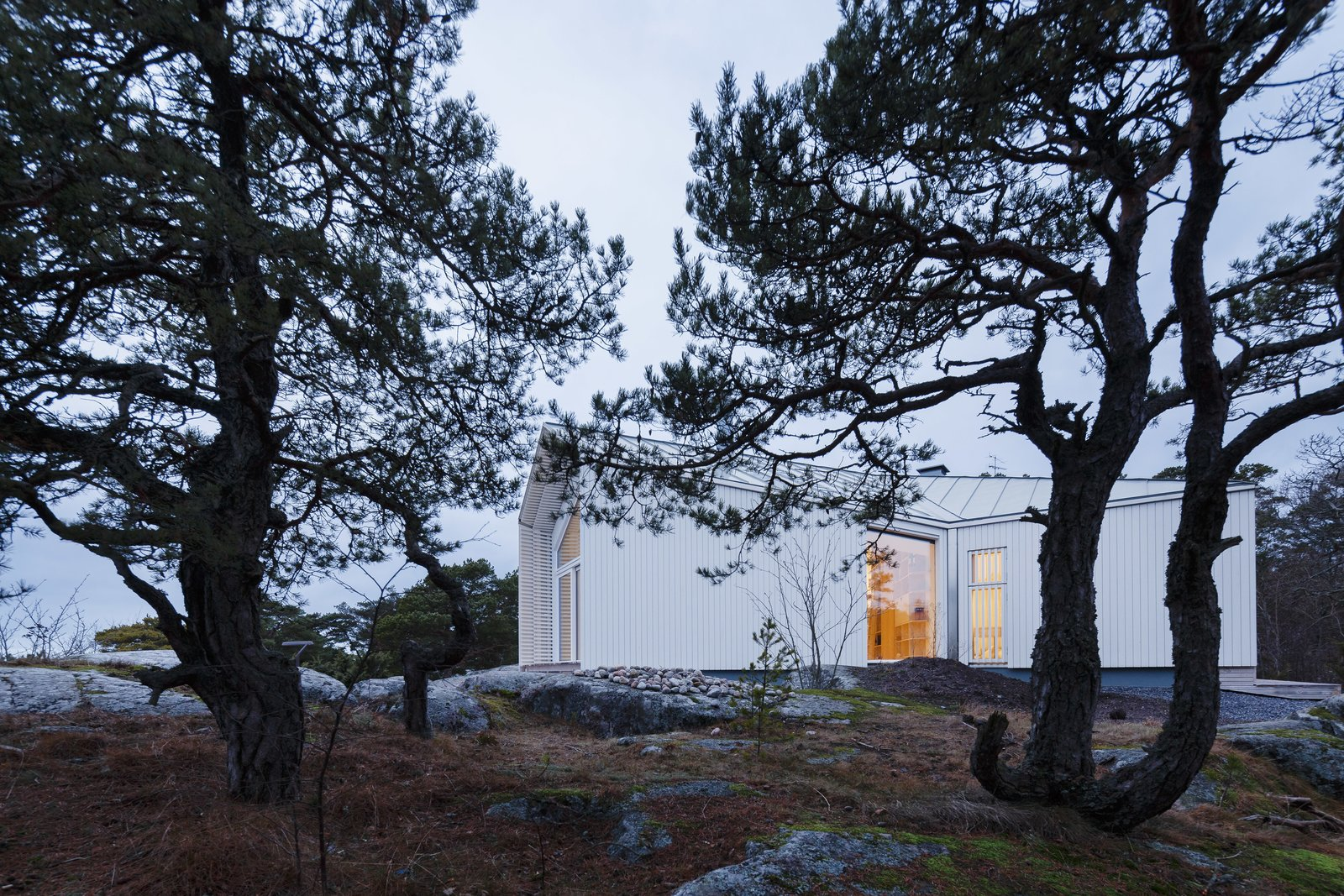 Tagged: Outdoor.  Photo 2 of 12 in A Modern Finnish Villa That Grows Out of a Seaside Cliff