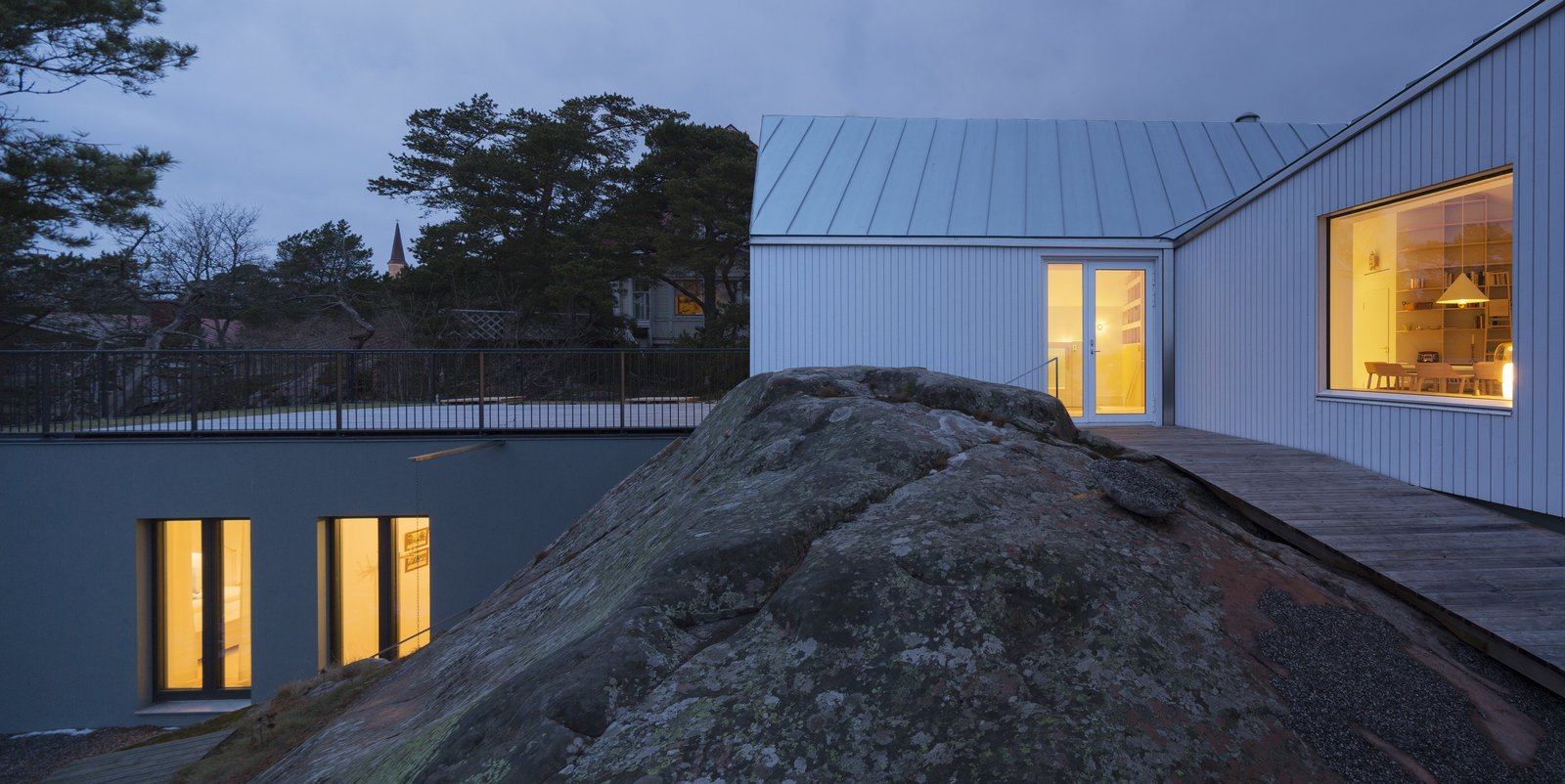 Tagged: Outdoor.  Photo 5 of 12 in A Modern Finnish Villa That Grows Out of a Seaside Cliff