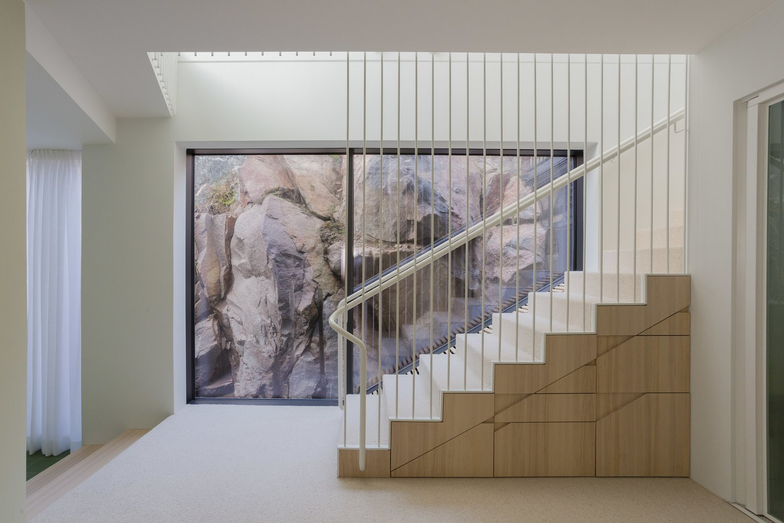 Tagged: Staircase and Cable Railing.  Photo 9 of 12 in A Modern Finnish Villa That Grows Out of a Seaside Cliff