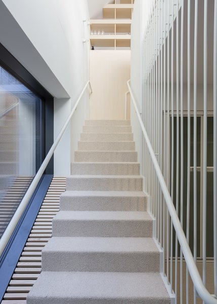 Modern home with staircase and cable railing. Photo 11 of Stormvillan