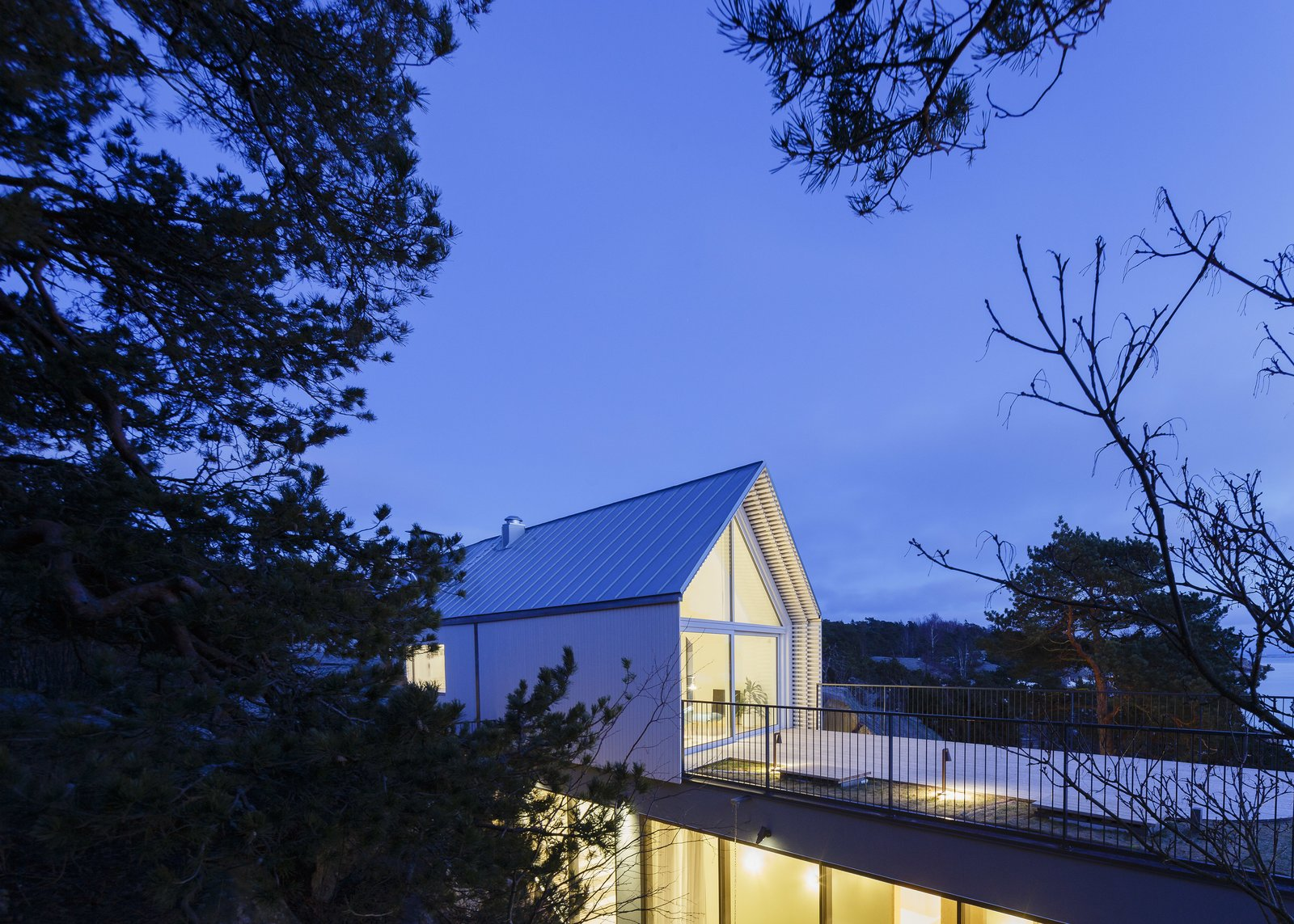 Tagged: Outdoor.  Photo 12 of 12 in A Modern Finnish Villa That Grows Out of a Seaside Cliff