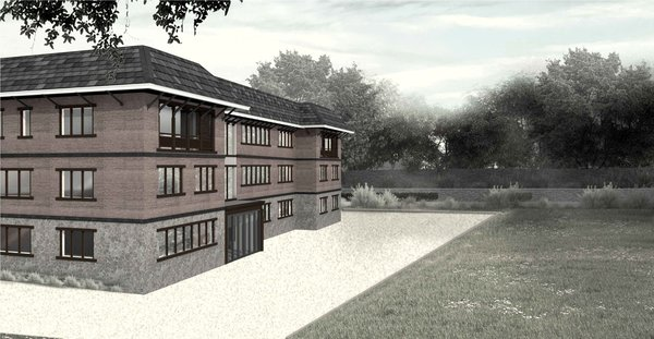 EXTERNAL CGI OF PROPOSED BUILDING Photo 9 of ICIMOD Annexe Building Design Competition modern home