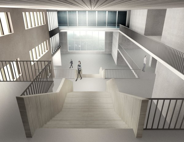 CONCOURSE VIEW FROM SECOND FLOOR LEVEL Photo 11 of ICIMOD Annexe Building Design Competition modern home