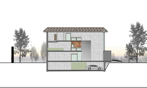 SECTION-BB Photo 15 of ICIMOD Annexe Building Design Competition modern home