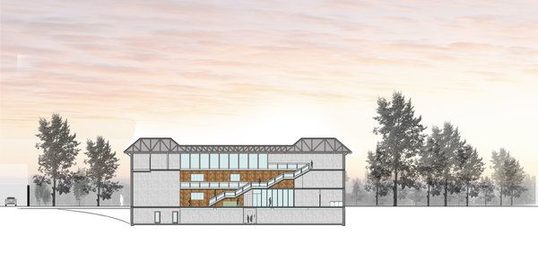 SECTION-AA Photo 14 of ICIMOD Annexe Building Design Competition modern home