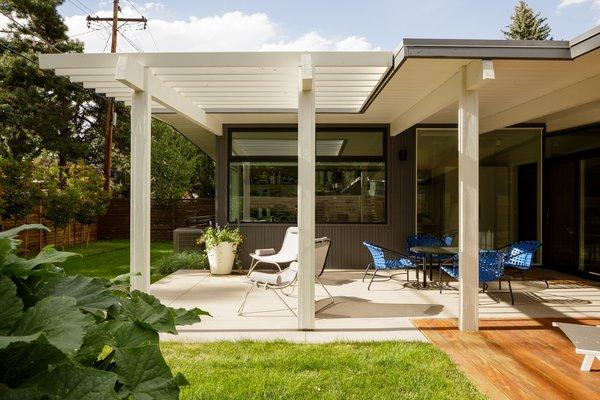 Our home architectural studio sits right inside this rear patio. Krisana Park, Denver, CO Cadence Design Studio Photo 2 of Krisana Park Renovation modern home