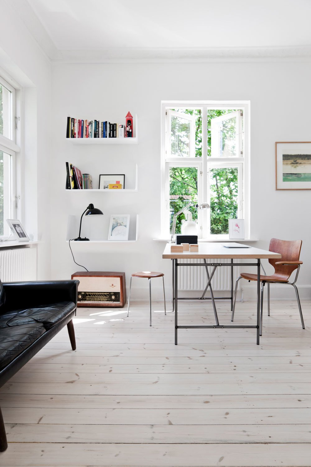 Workspace. House outside Copenhagen by Morten Holtum.  Modern Danish Homes We Love by Aileen Kwun from Studies and workspaces
