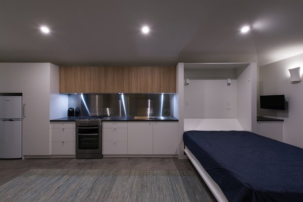 Kitchen and fold down bed Photo 14 of Cooks Hill Granny modern home