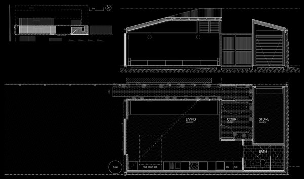 Plan and section Photo 16 of Cooks Hill Granny modern home