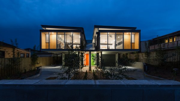Street Elevation Photo  of Merewether Houses modern home