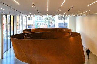 The Power of Design That is Snøhetta - Photo 6 of 6 - The new lobby extends to provide a new entrance on Howard Street, San Francisco, and showcasing the beautiful interactive art of Richard Serra.