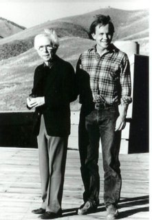 Henry Whiting Lecture Living Mid-Century Modernism: Growing Up in Midland and Beyond - Photo 1 of 3 - Circa 1982 Alden B. Dow with his Grand nephew Henry Whiting II