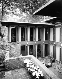 The Peter Carras Residence 1961 (The Dow Test House). The last home Alden B. Dow designed.