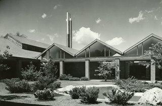 St. John's Episcopal Church  Mid-Century Modern  by Alden B. Dow - Photo 1 of 5 - St. John's Episcopal Church ,<br>Mid-Century Modern,<br>Midland MI, by Alden B. Dow, www.abdow.org